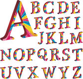 Colored alphabet with stripes Royalty Free Stock Photos
