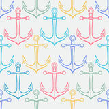 Colored anchors Stock Image