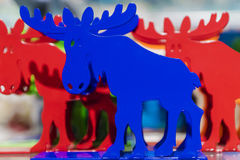 Colored animal moose souvenir from Sweden Stock Photos