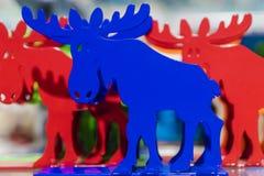 Colored animal moose souvenir from Sweden Stock Photos