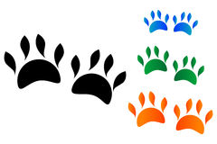 Colored animal's paw Royalty Free Stock Photo