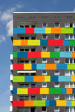 Colored apartments. Apartments in various colours Royalty Free Stock Image