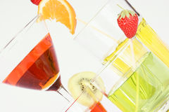 Colored aperitif drinks Stock Photo