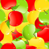 Colored apple background Royalty Free Stock Photo