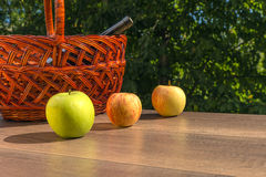 Colored apples Stock Photos