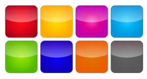 Colored Application Icons For Mobile Phones And Stock Image