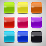 Colored Application Icons for Mobile Phones and Tablets, Vector Royalty Free Stock Image
