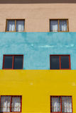 Colored architecture facades, details in Guatape, Colombia Stock Photos