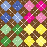 Colored Argyle Pattern Royalty Free Stock Image