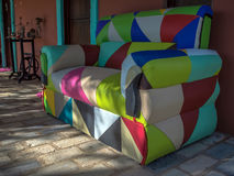Colored armchair Royalty Free Stock Image
