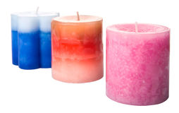 Colored Aromatic Candles I Royalty Free Stock Images