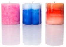 Colored Aromatic Candles II Royalty Free Stock Image