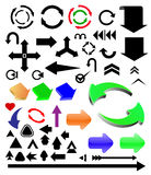 Colored arrows. Vector different color arrows set Stock Photography