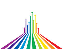 Colored arrows  Royalty Free Stock Photos