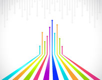 Colored arrows Stock Images