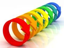 Colored arrows Stock Photos