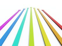 Colored arrows. Isolated on white Stock Illustration
