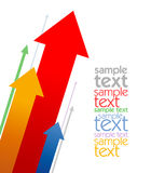 Colored arrows design template Stock Images