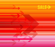 Colored  arrows with sale. Stock Photos
