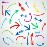 Colored arrows set. Set of icons. Vector illustration Royalty Free Illustration