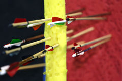 Colored arrows in target Royalty Free Stock Image