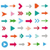 Colored Arrows. On the white background. Eps 10 file Royalty Free Illustration