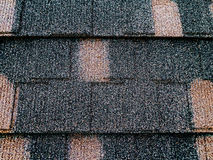 Colored asphalt roof structure Stock Images