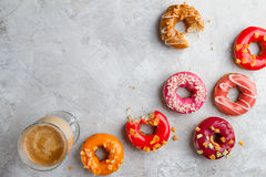 Colored assorted donuts Royalty Free Stock Photography