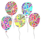 colored asymmetrical balloons Royalty Free Stock Images