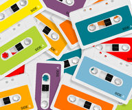 Colored Audio casette Stock Photos