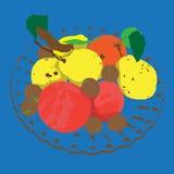 Colored autumn fruits Stock Photos