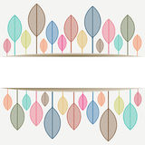 Colored autumn leaves with place for text  Copy sp. Ace - Vector illustration Stock Image