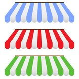 Colored Awnings. This is file of EPS8 format Stock Photography