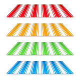 Colored Awnings. Set of colored awnings on white background Royalty Free Stock Photo