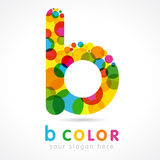 Colored B logo. Communication business B logo colorful vector template Stock Photography