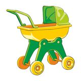 Colored baby-car Stock Image