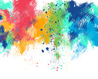 Colored background, abstract. Digital painting Stock Images