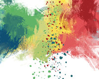 Colored background, abstract. Digital painting Stock Photos