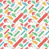 Colored background for accessories for longboarders Stock Photography