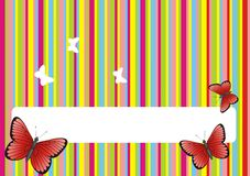 Colored background with butterflies Stock Photo