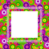 Colored background of circles stock illustration
