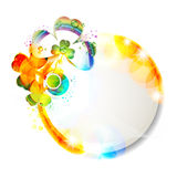 Colored background with clover Stock Images