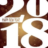 Happy New Year 2018 background. Colored background concept for New Year 2018 greetings Royalty Free Stock Photo