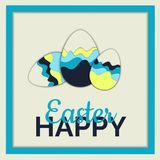 Happy Easter eggs Illustration Royalty Free Stock Photo