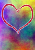 Colored background with heart Royalty Free Stock Images