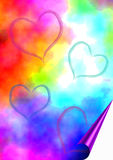 Colored background with hearts Stock Images