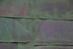 Colored background. old rusty green metal surface. texture of cracks Royalty Free Stock Photography