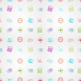 Colored background for online sales Royalty Free Stock Images