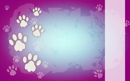 Colored background with paws Stock Photography