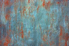 Colored background from a piece of an old iron rusty plate stock images